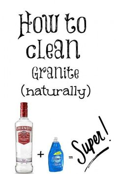 How to clean your granite countertops naturally Natural Living Tips , DIY projects , #DIY Natural Living Tips , DIY projects , #DIY