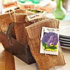 Flower Seeds Party Favors