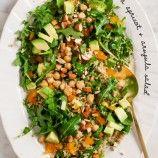spring salad & arugula hummus