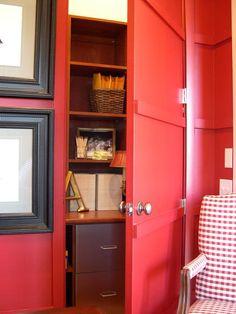 Hidden Shelves - HGTV Dream Home 2004: Home Office Pictures on HGTV