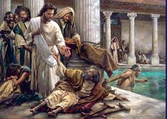 Jesus healing at the pool of Bethesda by Nathan Greene