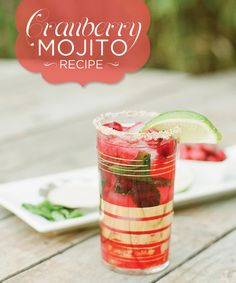 The Perfect Winter Cocktail: Cranberry Mojito Recipe @Byron Bright