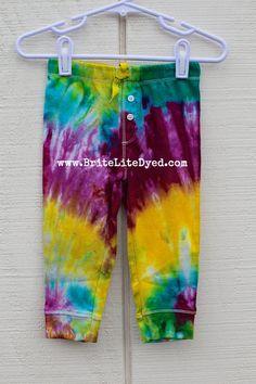 Tie Dye Baby/Toddler Pants 12 Months Children's by BriteLiteDyed