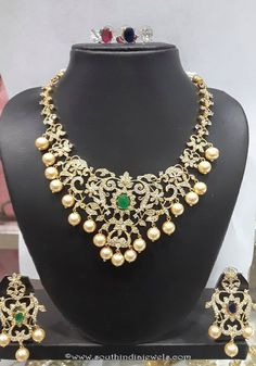 Diamond Like Stone Changeable Imitation Necklace