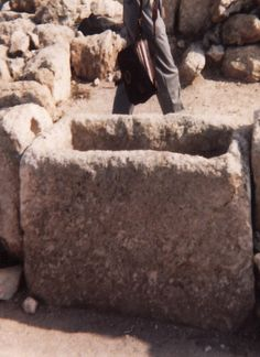 Stone Manager Like Jesus Was Laid In When He Was Born In Bethlehem, Israel...Photo By Lilly Jordan