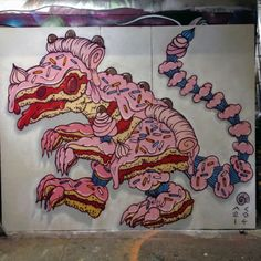 """#StreetArt  Andy Council. """"Baby cake T Rex""""  Morehttps://www.flickr.com/photos/andycouncil/"""