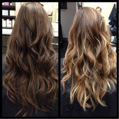 Little more caramel brown then blonde but this is what I want!