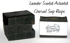 How to Make Natural Handmade Facial Soap - DIY Cold Process Activated Charcoal Soap Recipe with Blue Green Algae, Lavender and Tea Tree - Plus Printable Cigar Band Soap Labels (Diy Soap Labels) Tea Tree Soap, Activated Charcoal Soap, Diy Masque, Savon Soap, Soap Labels, Homemade Soap Recipes, Beauty Recipe, Handmade Soaps, Diy Soaps