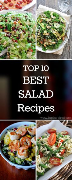 Let's talk skinny! But still delicious! Salads are like field on which one you are able to play any game you want and put as many players as you wish! #Salad #Recipes