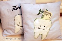 Cute Tooth Fairy pillow...would be simple to make!