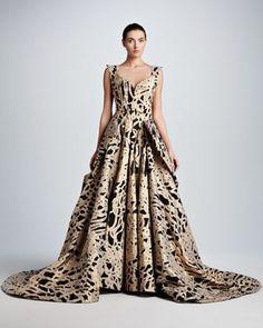 Zac Posen Full-Skirt Rope Brocade...    $12,990.00