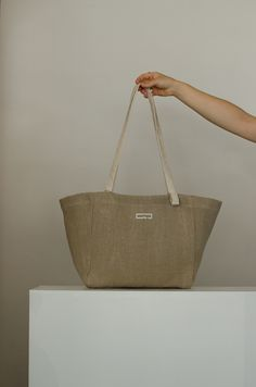 Basket Tote Hemp, sleek everyday bag, made from Hemp - the environmental super fibre. Waterproof, Vegan, Made in Slovakia, PAKTA STUDIO Rope Tying, Top Soil, Organic Matter, Everyday Bag, Handmade Bags, Hemp, Straw Bag, Basket, Vegan