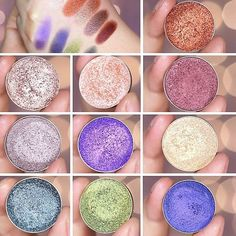 Makeup Geek foiled eyeshadows! Review and swatches by Nikkie nikkietutorials via IG. Be sure to check her YT channel to hear her thoughts on them!