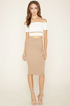Double-Layered Pencil Skirt