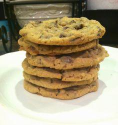 Huge chocolate chip oatmeal cookies