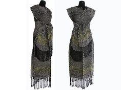 Ivano Viitali, moda con periódicos reciclados y tejidos.