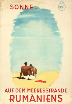 1935 Romantic and slightly mysterious vintage poster for the beaches and sun of Romania Art Deco Posters, Film Posters, Retro Illustration, Illustrations, Vintage Travel Posters, Vintage Ads, Vintage Magazine, Tourism Poster, Old Ads