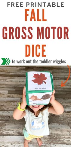 Free Printable Fall Gross Motor Dice for Toddlers & Preschoolers