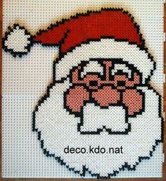 Christmas Santa Claus hama perler beads by deco.kdo.nat
