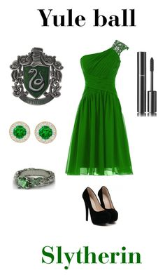 """""""slytherin- Yule ball"""" by hana1234 ❤ liked on Polyvore featuring Chanel"""