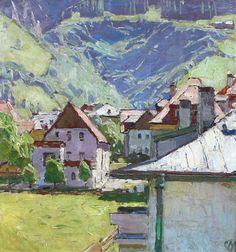 Carl Moll (Austria 1861-1945) Hofgastein, Salzburg (n.d.) oil on panel 35.5 x 34.5cm