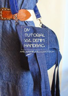 DIY TUTORIAL denim handbag  jak uszyć torebkę krok po kroku diy