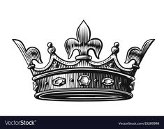 Find King Crown Vector Illustration Hand Drawn stock images in HD and millions of other royalty-free stock photos, illustrations and vectors in the Shutterstock collection. Thousands of new, high-quality pictures added every day. King Crown Tattoo, Small Crown Tattoo, Crown Tattoo Design, Couple Tattoos, Tattoos For Guys, Unique Tattoos, Small Tattoos, King Crown Drawing, Osiris Tattoo