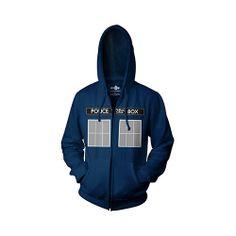 Doctor Who: TARDIS Hoodie... BAHHHH!  =D