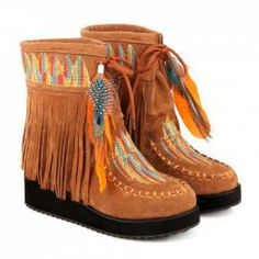 $25.12 Ethnic Style Women's Short Boots With Fringe and Embroidery Design Sammydress #MyThanksgivingWishList