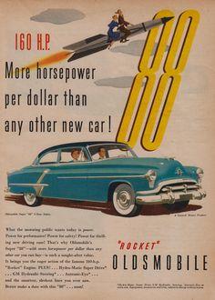Vintage Oldsmobile Rocket 88  Ad - 1952