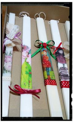 Gift Wrapping, Easter, Candles, Gifts, Gift Wrapping Paper, Presents, Wrapping Gifts, Candy, Candle Sticks