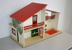 Puppenstube Vero Puppenhaus DDR mit Zubehör OVP #4310