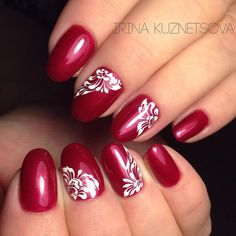 Red Nail Art, Pink Nails, Almond Nails Pink, Flower Nail Art, Stamping Nail Art, Toe Nail Designs, French Nails, Simple Nails, Christmas Nails