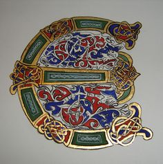 Celtic initial E - Illumination. There are many other great original and recreation illuminations on this site