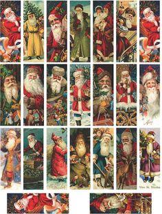Meg's Garden: Tiny Tiny Books & Microscope Slide Art Papers Shabby Chic Christmas, Victorian Christmas, Christmas Tag, Christmas Projects, All Things Christmas, Christmas Ornaments, Xmas, Christmas Villages, Ideas