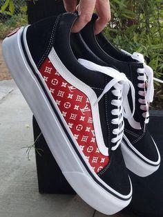 be6052427f Custom Louis Vuitton Vans Shoes
