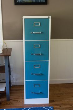 File Cabinet Makeover Using Chalk Paint Filing Cabinet