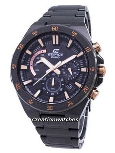 Stainless Steel Case and Bracelet, Analog Display, Chronograph Function, Luminous Hands, Solid Case Back, Deployment Clasp. Stainless Steel Bracelet, Stainless Steel Case, Casio Edifice, Seiko Automatic, Watch Model, Casio G Shock, Seiko Watches, Black Crystals, Casio Watch