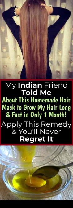 mask My Indian Friend Told Me About This Homemade Hair Mask to Grow My Hair Long & Fa. My Indian Friend Told Me About This Homemade Hair Mask to Grow My Hair Long & Fast in Only 1 Month! Apply This Remedy & You'll Never Regret It - Natural Remedy Curly Hair Styles, Natural Hair Styles, Natural Hair Mask, Short Hair Styles Thin, Natural Hair Growth Tips, Short Cuts, Longer Hair Faster, Grow Natural Hair Faster, How To Make Your Hair Grow Faster