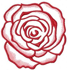 Red rose free embroidery design 19. Machine embroidery design. www.embroideres.com