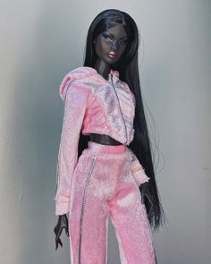 """cici on Instagram: """"Currently obsessing over #nadjarhymes and this @monarchandmuse velvet piece in doll scale by @sydennn ✨💖✨"""" Barbie Dolls, Velvet, Beautiful, Black, Instagram, Fashion, Moda, Black People, Fashion Styles"""