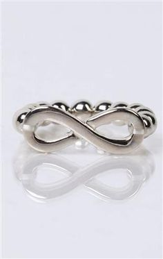 Deb Shops plus size stretch ring with #infinity symbol $6.80