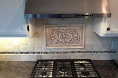 Nice And Charming Nice And Charming Decorative Tile Backsplash Kitchen Backsplash Mozaic Insert Tiles, Decorative Medallion Tiles - Osirix Interior Decorative Tile Backsplash, Stove Backsplash, Ceramic Decor, Kitchen Appliances, Kitchens, Tile Floor, Tiles, House Design, Ceramics