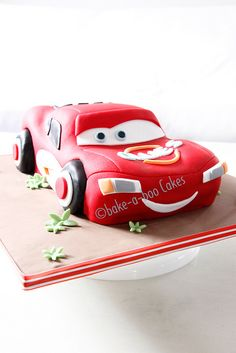 Lighting McQueen Cake by Bake-a-boo Cakes NZ, via Flickr