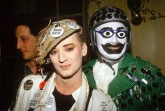 Boy George & Leigh Bowery at Taboo