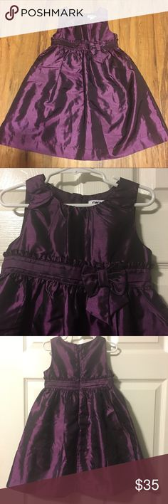 DKNY purple formal dress Beautiful dark purple!! Bow and small ruffles at waistline, double-lined skirt, EXCELLENT condition!! Dkny Dresses Formal