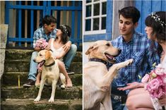 E-session com o dog: Carol + Vitor - Berries and Love