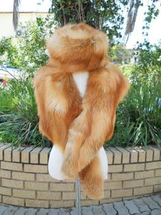 Buy Luxurious Copper-Brown Russian Fox Fur Collar and Hat for R4,999.00