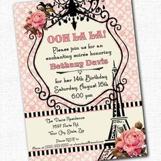 Parisian Party Ooh La La French Custom