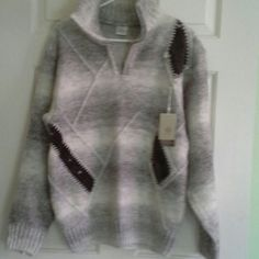 Unisex.   Wool Sweater with details. Winter Comfort Sweaters Cardigans